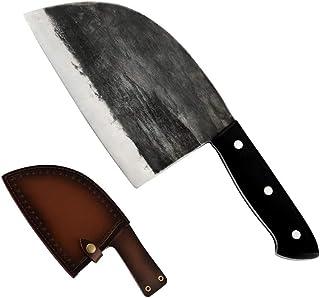 Main Forged Butcher Couteaux de cuisine avec un couteau gaine en acier haute teneur en carbone Clad Couteaux de cuisine ch...