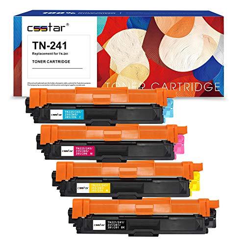 CSSTAR Compatibili Cartuccia di toner per Brother TN241 TN245 per HL-3140CW MFC-9140CDN HL-3150CDW MFC-9330CDW MFC-9340CDW HL-3170CDW MFC-9340CDW DCP-9020CDW Stampante - Nero Ciano Magenta Giallo