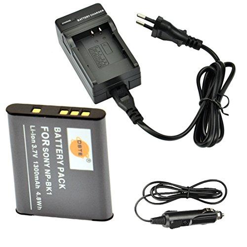 DSTE Repuesto Bater¨ªa y DC16E Viaje Cargador kit para Sony NP-BK1 Bloggie...