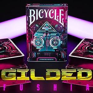 U.S.P.C.C. Gilded Fuchsia Bicycle Cybershock Playing Cards
