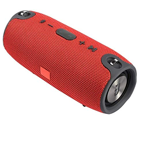 JUNPE Altavoz portátil Bluetooth IPX5 Impermeable Bluetooth Inalámbrico Altavoz Mini STERO Altavoz Bajo Negro (Color : Red)