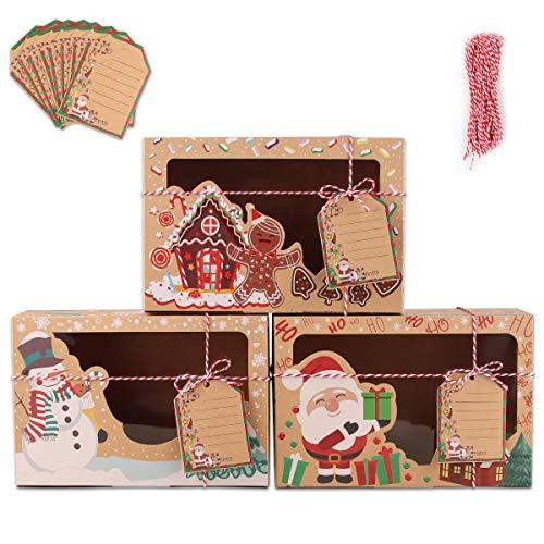 Bolsa de Regalo,12 piezas Cajas de Kraft Bolsas de Papel de