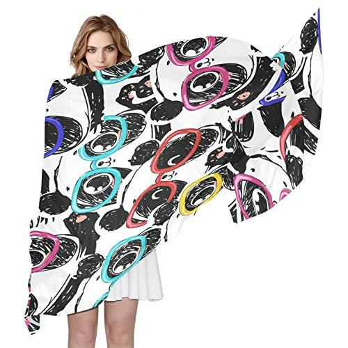 BGIFT - Pañuelo de seda para mujer y hombre, diseño de oso panda