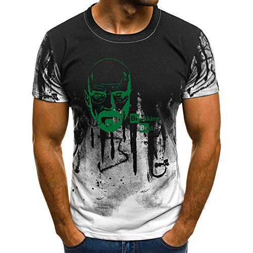 Breaking Bad T-Shirt Hombres Camiseta de Manga Corta Camiseta Temperamento de Moda Camiseta Entrenamiento Deportivo Camiseta Hipster Manga Corta Camiseta Ocio Airy Camiseta de Manga Corta Unisex