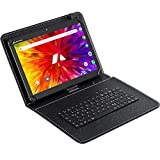 ACEPAD A121 v2021 (10.1') Tablet PC 4G LTE, 2GB RAM, 64GB Speicher, Android 9.0 Pie, Dual-SIM, IPS HD 1280x800, Quad Core CPU, WiFi/WLAN/Bluetooth, microUSB/microSD (Alu-Schwarz mit Tastaturtasche)