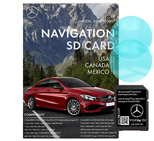 Mercedes Benz Navigation SD Card | C, E, GLC Class | Garmin Pilot A2139065507 | 2019/2020 GPS | Version 13.0 | 010-12267-0C | Anti Fog Rearview Mirror Sticker Included