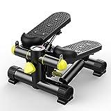 Huiiv Mini Fitness Stepper, Mini Fitness Stepper Machine d'exercice Cardio Exercice Formateur Torsion Action avec Bandes de résistance intérieure Fitness Stepper réglable