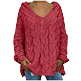Sweater Coats for Women, Ulanda Womens Button Up Oversized Knit Hooded Long Cardigan Sweater Coat Outwear with Pockets …