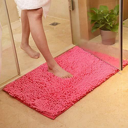 Alfombra de baño antideslizante Alfombra de baño, Tapis Salle de Bain, Alfombra en el baño Cómoda alfombrilla de baño, Alfombras de baño de dormitorio de gran tamaño - Rosered, aproximadamente 50x80cm