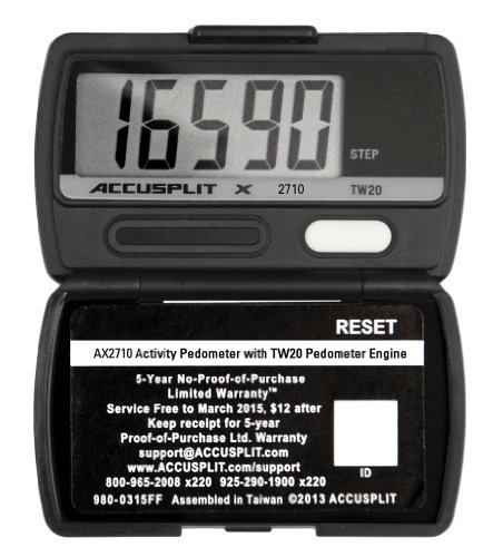 ACCUSPLIT AX2710 Accelerometer Pedometer-Steps only