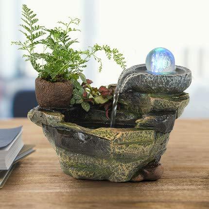 Steingarten Brunnen Dekoration Fischteich Feng Shui Rad Büro Tee Desktop Bonsai Freunde Senden Geschenke Kleine
