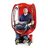 Under the Weather ChairPod – 1-Person Wearable Pod for Scooters, Wheelchairs and Folding Chairs, Protection from Cold, Wind and Rain