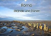 Roemoe - Straende und Duenen (Wandkalender 2022 DIN A3 quer): Roemoe, die suedlichste daenische Wattenmeerinsel, ist mit seinen kilometerbreiten, mit dem Auto befahrbaren Straenden ein beliebtes Urlaubsziel. (Monatskalender, 14 Seiten )