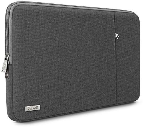 TECOOL Funda Ordenador Portátil para 13 Pulgadas MacBook Air/Pro, 13,5 Surface Laptop, 14' Lenovo Flex 5/Yoga C740, Huawei Matebook D 14 Ultrabook Bolso Protección Completa, Gris Oscuro