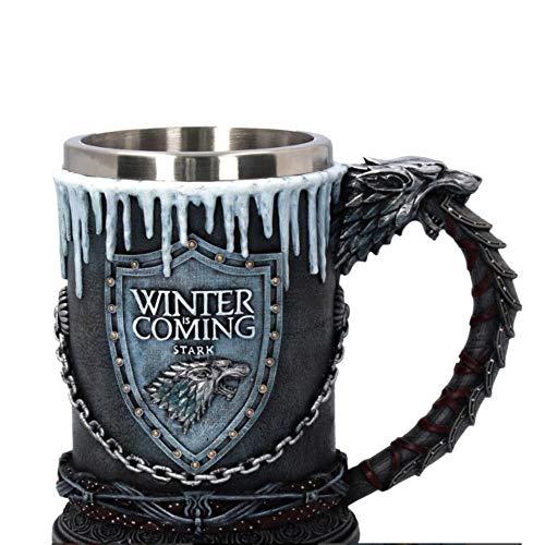 Creative Een Lied van IJs en Vuur Game of Thrones hars wijn schedel kop in roestvrij stalen kop whisky glas bier,cup icing,501-600ml