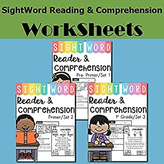 3 Sets of Sight Word Reader and Comprehension (THE BUNDLE) Learning PDF Electronic File JoinBuy