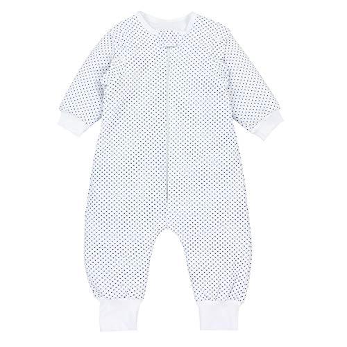 TupTam Baby Unisex Schlafsack mit Beinen und Ärmel Winter, Farbe: Sterne Blau/Weiß, Größe: 80-86