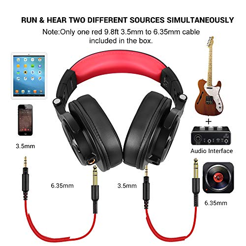 OneOdio A71 Wired Over Ear Headphones, Studio Headphones with SharePort, Professional Monitor Recording