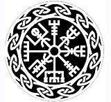 MAMA STICKER Bumper White Vegvisir Viking Norse Rune Talisman Amulet Odin Halloween Tattoo Decal Symbol Sign Helmet Motorcycle Luggage Laptop Notebook Back Truck Water Bottle Window Scrapbook Gift