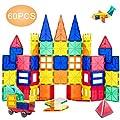 ORRENTE Magnetic Blocks, Magnetic Building Blocks Set for Boys/Girls, Magnetic Tiles Educational STEM Toys for Kids/Toddlers, 60 Piece from ORRENTE