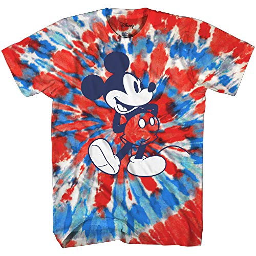 Mickey Mouse Classic Shmile Tie Dye Vintage Disneyland World Mens Adult Graphic Tee T-Shirt Apparel