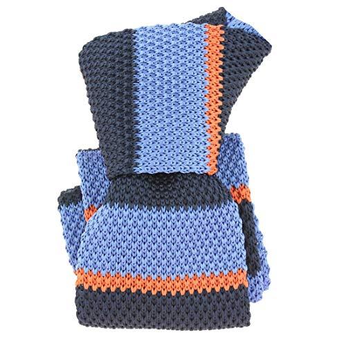 Clj Charles Le Jeune. Cravate tricot. Club charles, Microfibre. Bleu, Club/rayé.