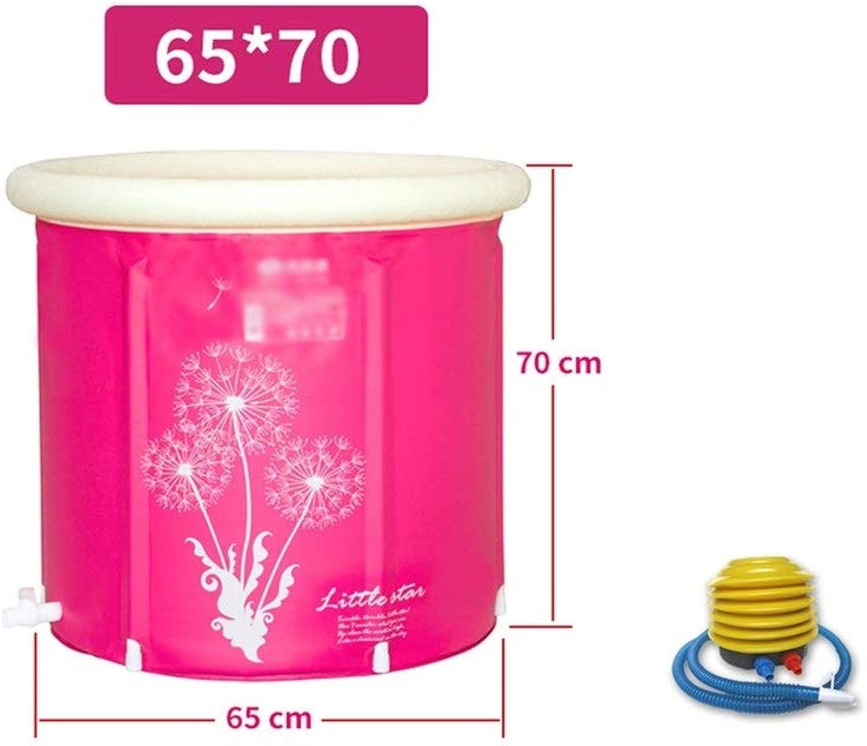 LPYMX,Padded bathtub Thickening insulation folding adult Tub65  70cm186 bath (color   No cover, Size   75  75cm)