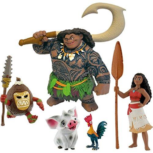 Vaiana Moana Bullyland 5 cifras - 13185 Vaiana - 13186/2 Dios Maui, 13187 Pua, 13188 Hei Hei y 13189 Kakamoa