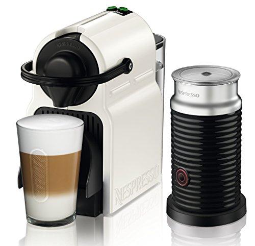 Nespresso Inissia Milk XN 1011 Cafetera de cápsulas, 1260 W, 0.7 L, metal, color blanco