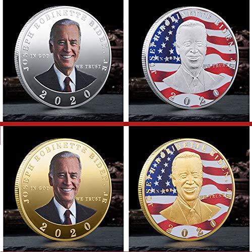 Joe Biden Coin 2020 Wahlkampf Des PräSidenten Der Vereinigten Staaten, SammlerstüCk Der Biden Coin Challenge, American Eagle Commemorative Coin Collector'S Medaillon Geschenk FüR UnterstüTzer. (4PCS)