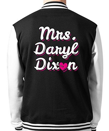 clothinx - Mrs. Daryl Dixon - Unisex College Jacke Schwarz, Größe XL