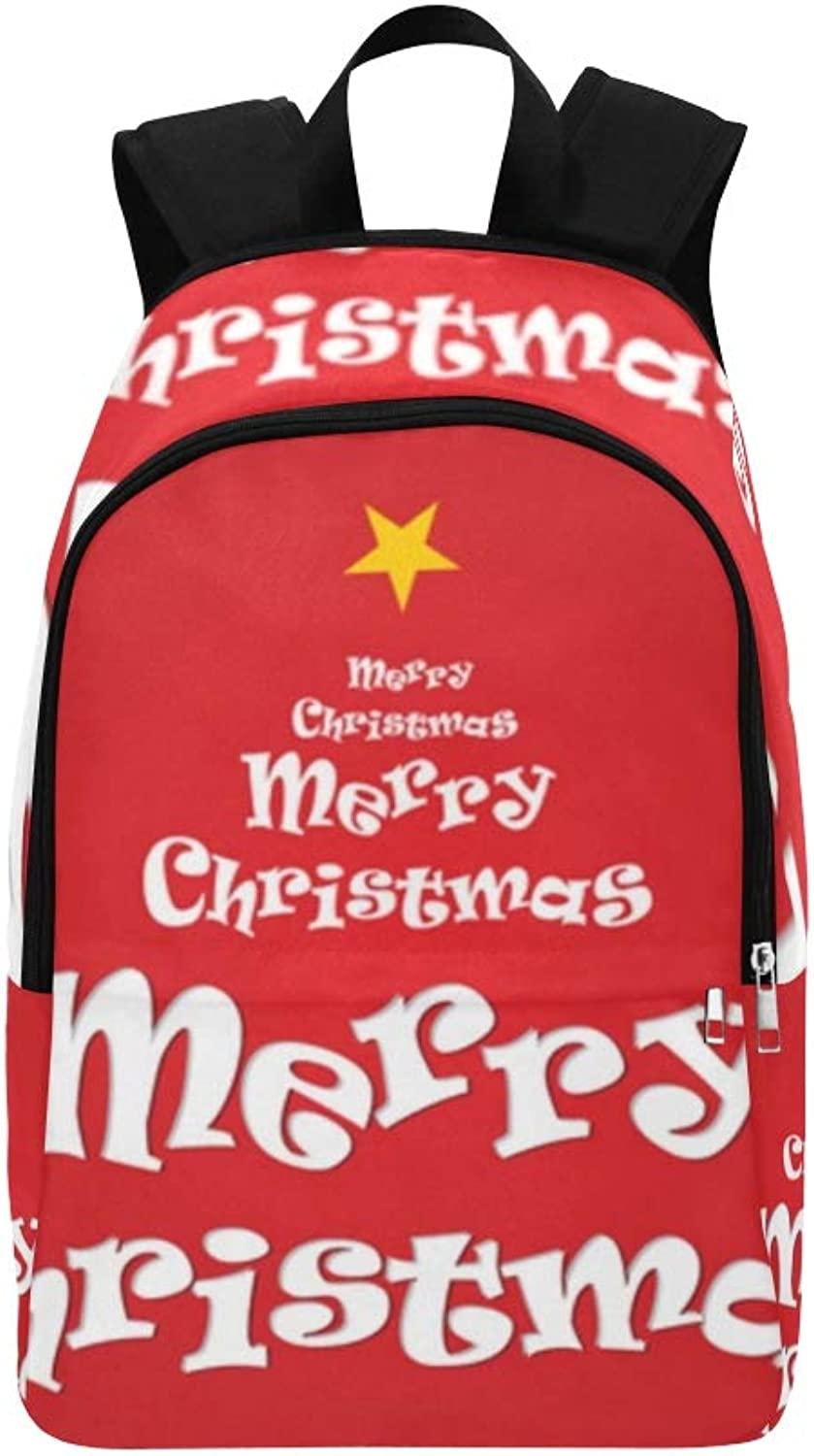 Text Daypack Backpack College Christmas Travel For School Casual Bag y0m8OvwNn