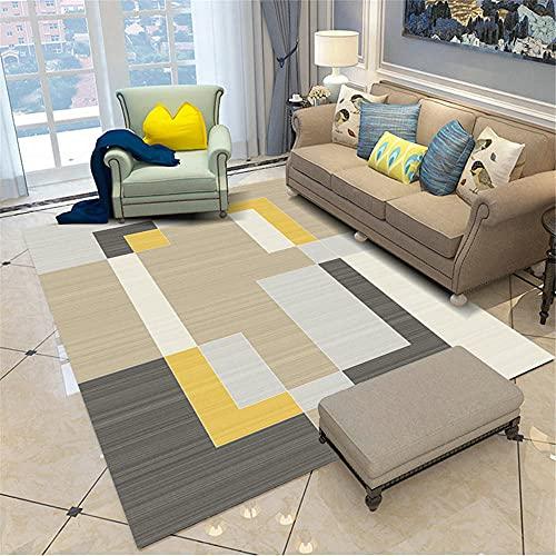 Alfombra De Entrada Gris Alfombra sala de estar gris minimalista rectangular moderno suave alfombra anti-mitón Alfombra Bebe Gateo 180X260CM Alfombras De Juegos Para Bebes 5ft 10.9''X8ft 6.4''