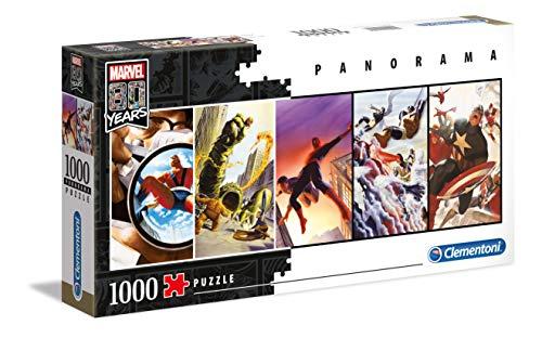 Clementoni- Puzzle 1000 Piezas Panorama Marvel 80 Years (39546.0) (Juguete)