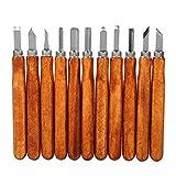 Holzschnitzwerkzeuge-Set, 11-teiliges Kohlenstoffstahl-Modellierwerkzeug für Anfänger...