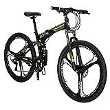 Eurobike G7 Mountain Bike Steel Frame 21 Speed 27.5 Inch 3 Spoke Wheels Dual Suspension Bicycle