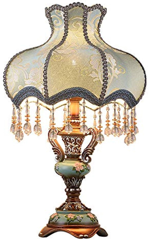 YYMM Tischlampe, europische Nachttischlampe, warme Tischlampe, luxuriser amerikanischer Stil, einfache Moderne Ehe,D33H55cm