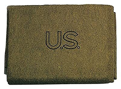 Rothco Us Stamped 70% Wool Blanket - Olive Drab
