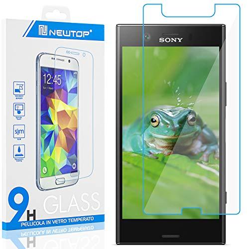 N NEWTOP [1 PEZZO] Pellicola GLASS FILM Compatibile con Sony Xperia XZ1 Compact, Fina 0.3mm Durezza 9H Vetro Temperato Proteggi Schermo Display Protettiva Anti Urto Graffio Protezione