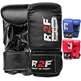 R2F Punching Gloves for Heavy Punch Bag - Adult Boxing Bag Gloves MMA Training Fighting Fitness Gloves Martial Arts | MMA | Sparring | Muay Thai | Rex Leather