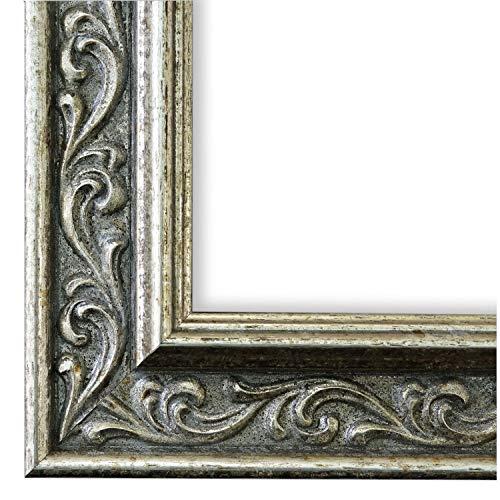 Online Galerie Bingold Cornice portafoto Verona Argento 4,4, Cornice a Giorno con Vetro museale (Protezione UV 45% - antiriflesso), Bianco, 105 x 140 cm