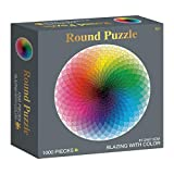Jigsaw Puzzles 1000 Pieces for Adults 70x50cm Finished Size Round Puzzle,1000 Piece Puzzles for Adults Teen - Gradient Color Rainbow Large Round Jigsaw Puzzle Difficult and Challenge