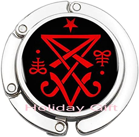 Fashion Tie Clip,Occult Sigil of Lucifer Satanic Tie Pin Statement Tie Clip Jewelry Collar Small Gift,H037