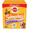 Pedigree Schmackos Mega Pack - Dog Treat Multipack with Beef, Lamb and Poultry Flavours, 110 Strips, 790 g