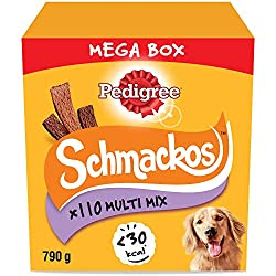 Pedigree Schmackos are delicious tender strips that are full of meaty flavours, designed to be a healthy and nutritional treat, made for training and rewarding Packed with dog-friendly ingredients and a great taste, Schmackos are a soft and scrumptio...