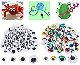 Gresunny 400 piezas adhesivos ojos móviles manualidades ojos wobbly googly wiggle eyes autoadhesivo ...