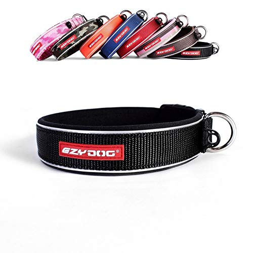 EzyDog Neo Dog Collar, Black, Medium(39-44cm)