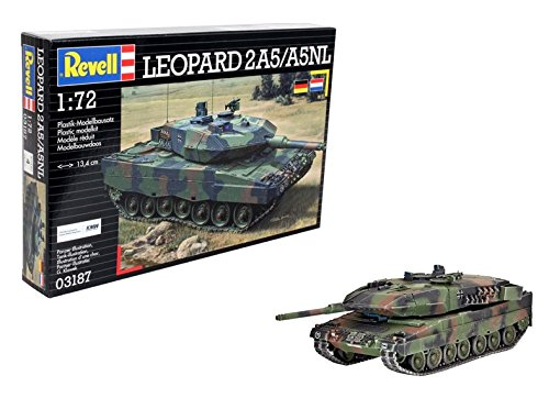 Revell Modellbausatz Panzer 1:72 - Leopard 2A5 / A5NL im Maßstab 1:72, Level 4, originalgetreue Nachbildung mit vielen Details, 03187