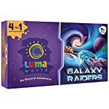 Luma World Galaxy Raiders 4 in 1 STEM Educational Activity Kit for Ages 9+ Years to Master Numbers, Strategy and Critical Thinking, 300+ Hours of Conceptual Activities
