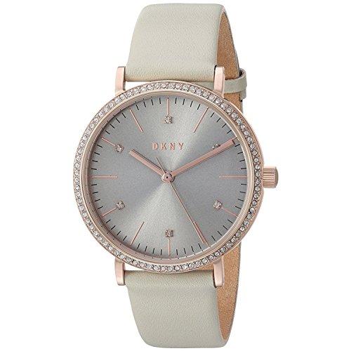 DKNY Damen Analog Quarz Uhr mit Leder Armband NY2609